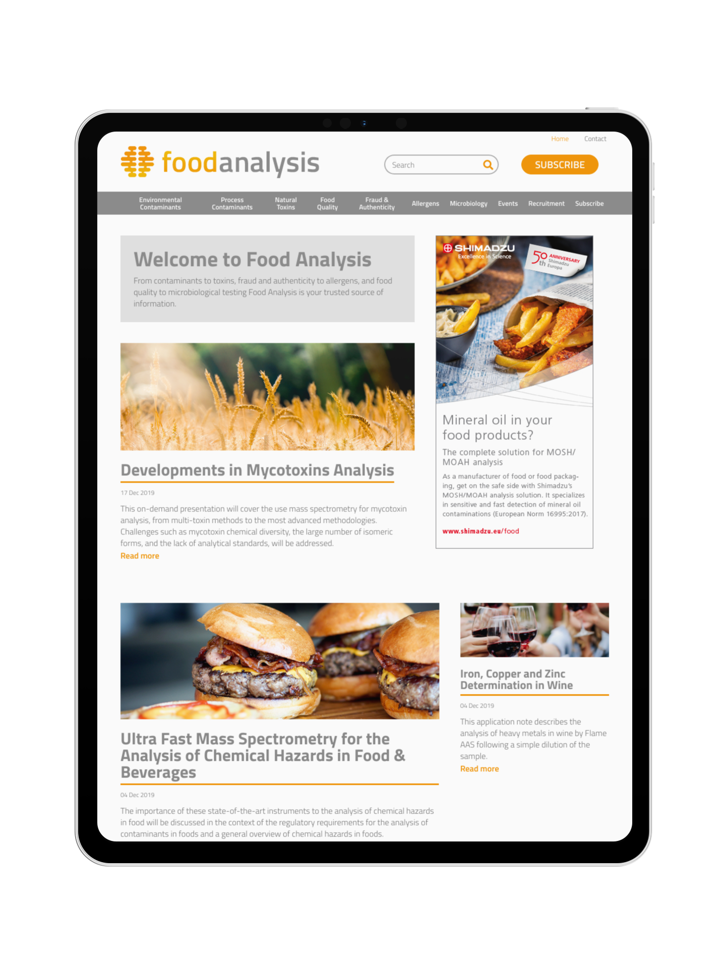 EBM - Showcase - Jobs-Food Analysis homepage